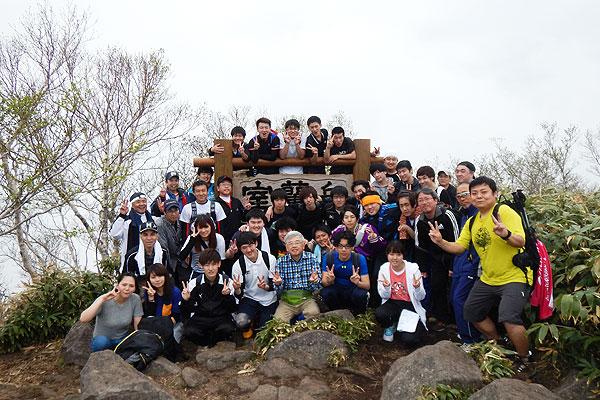 2017-05-26-室蘭岳登山 山頂にて