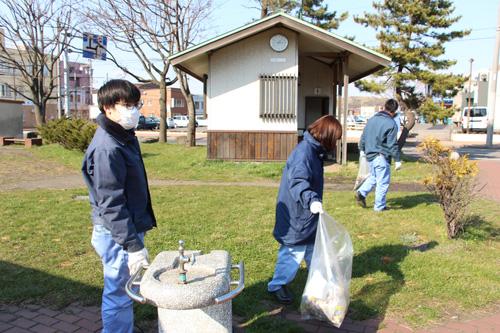 2021-04-15-輪西公園にてゴミ拾い